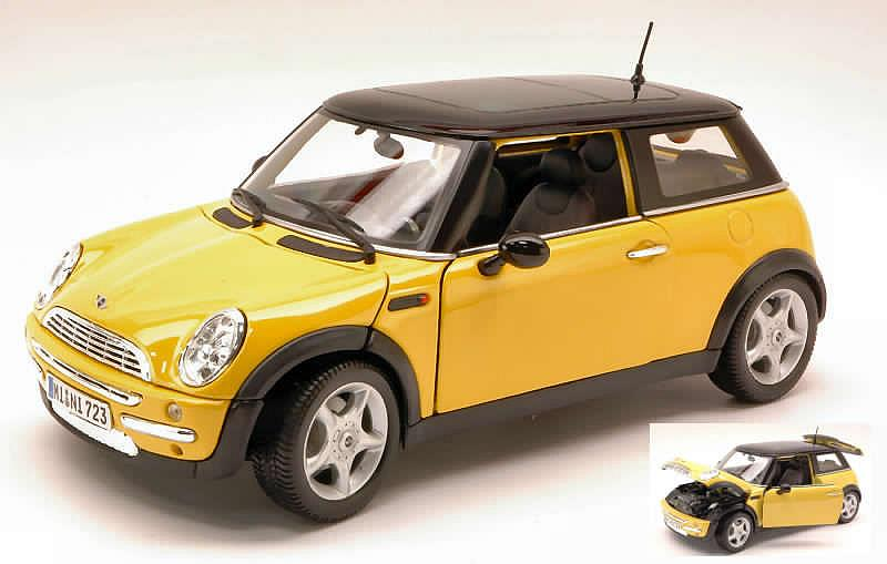 MINI Cooper with sunroof (Yellow) by maisto