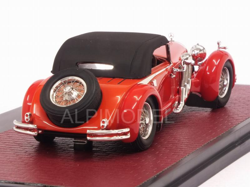Mercedes 680S Armbruster Roadster closed (Red) - matrix-models