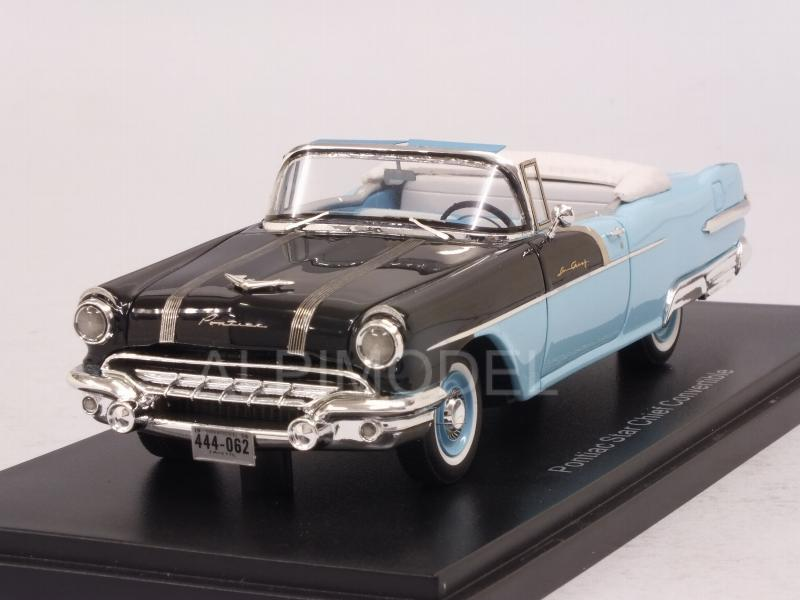 Pontiac Star Chief Convertible 1956 (Black/Light Blue) by neo