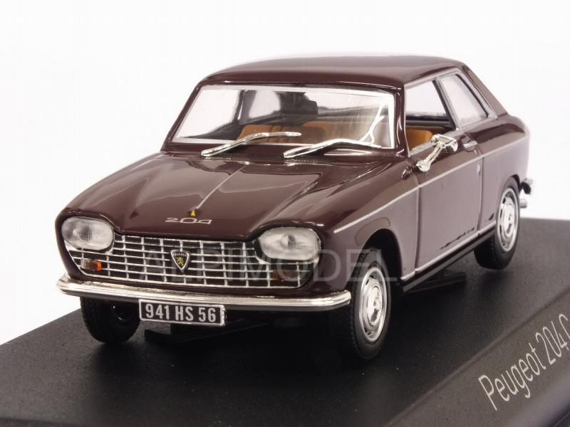 Peugeot 204 Coupe 1967 (Maroon) by norev