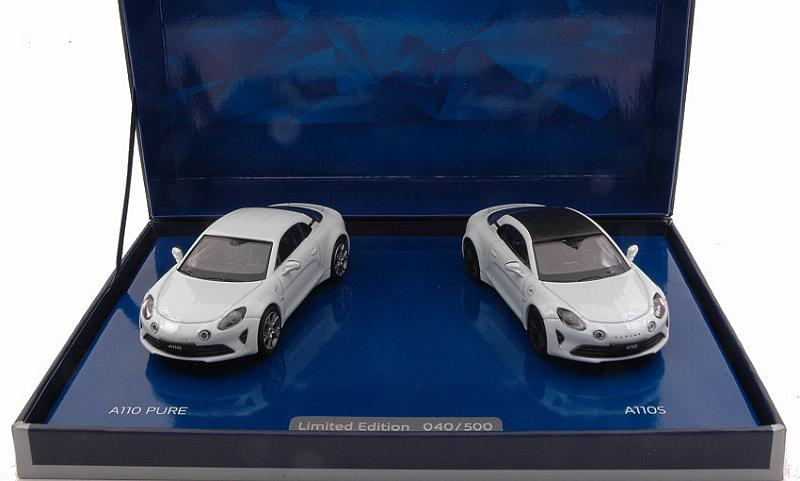 Alpine A110 Pure & A110S Set (Gift Box) by norev