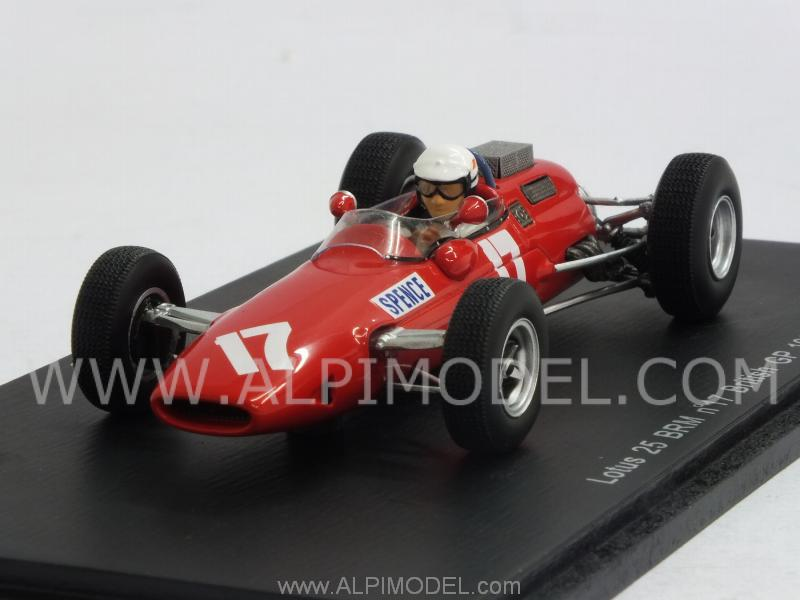 Lotus 25 BRM #17 British GP 1966 Mike Spence by spark-model