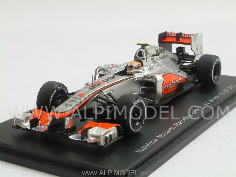 McLaren MP4/27 Mercedes Winner GP USA 2012 Lewis Hamilton by spark-model