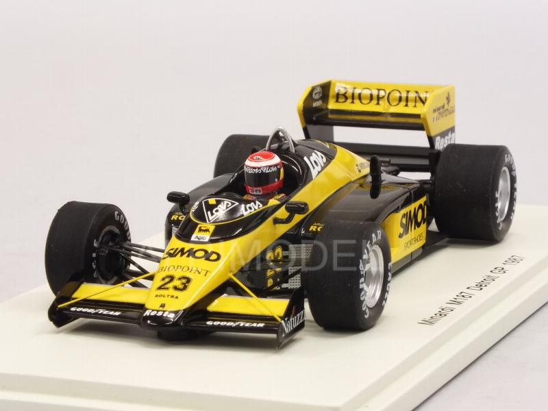 Minardi M187 #23 GP Detroit USA 1987 Adrian Campos by spark-model