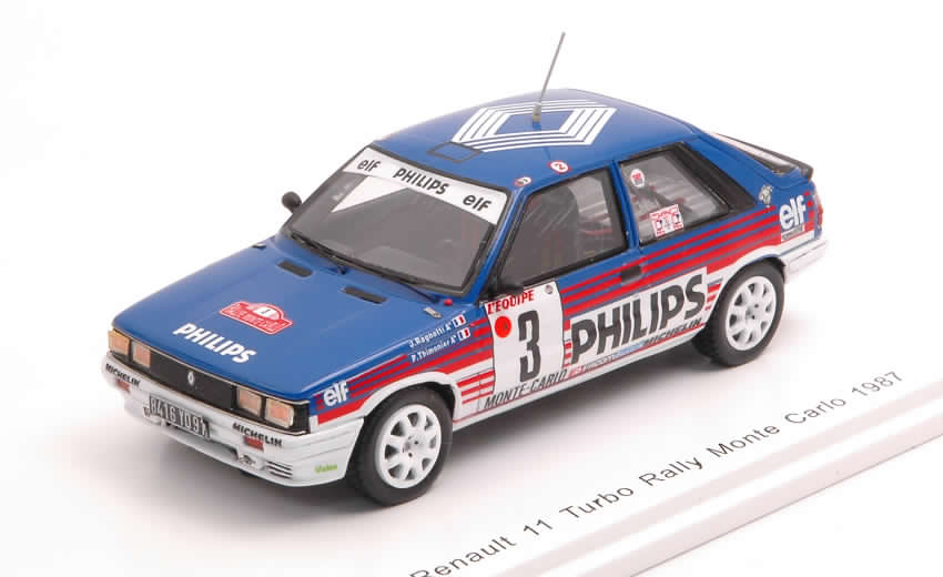 Renault 11 Turbo #3 Rally Monte Carlo 1987 Ragnotti - Thimonier by spark-model