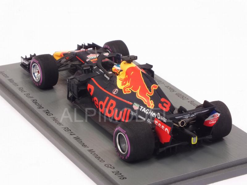 Red Bull RB14 #3 Winner GP Monaco 2018 Daniel Ricciardo - Red Bull 250th Race - spark-model