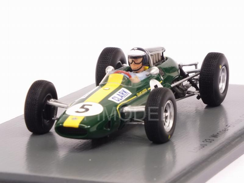 Lotus 33 #5 Winner British GP 1965 Jim Clark World Champion by spark-model