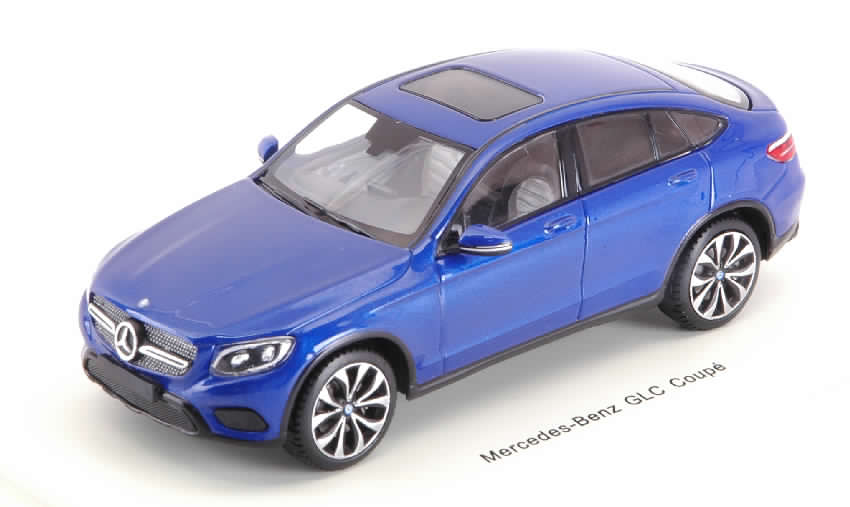 Mercedes GLC Coupe 2016 (Brilliant Blue Metallic) by spark-model
