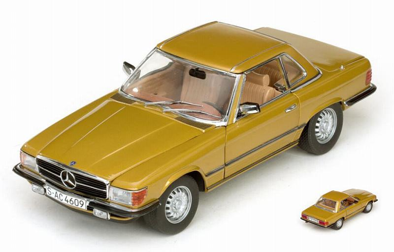 Mercedes 350 SL Hard Top Coupe  1977 Gold by sunstar