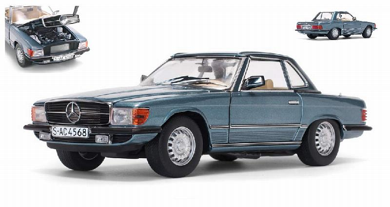 Mercedes 350 SL (R107) Metallic Light Blue Hardtop by sunstar