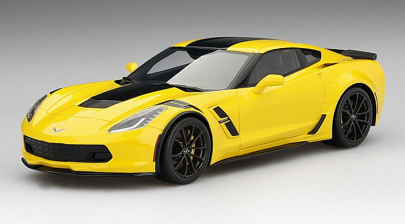 Chevrolet Corvette Grand Sport Corvette Racing Yellow Top Speed by true-scale-miniatures