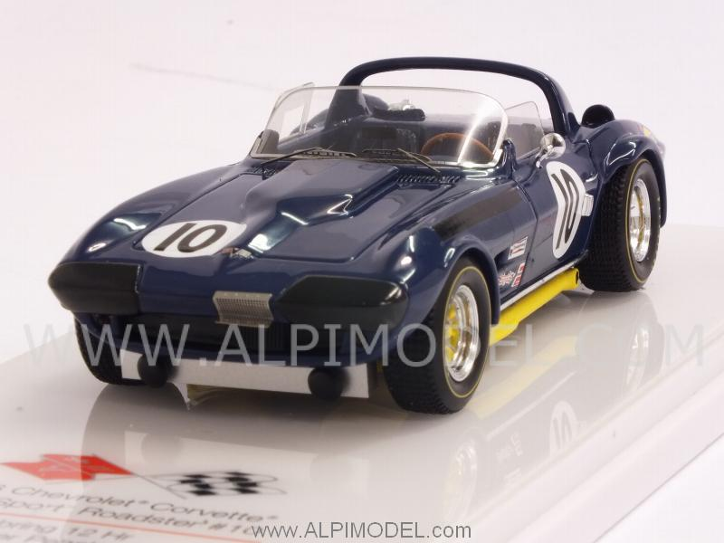 Chevrolet Corvette Grand Sport Roadster #10 12h Sebring 1967 Penske -Thompson - Guldtrans by true-scale-miniatures