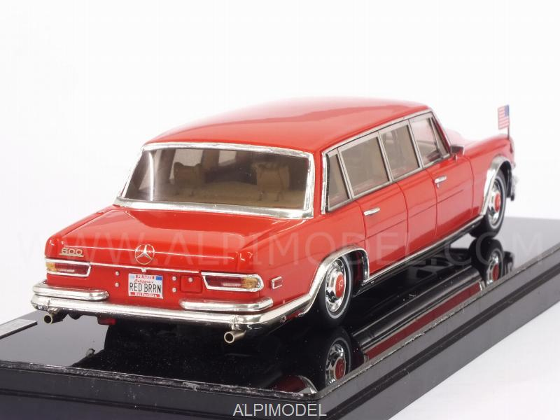 Mercedes 600 Pullman 1972 Red Baron - Hilton Family - true-scale-miniatures