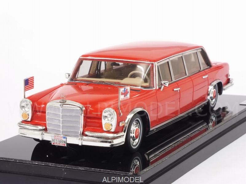 Mercedes 600 Pullman 1972 Red Baron - Hilton Family by true-scale-miniatures