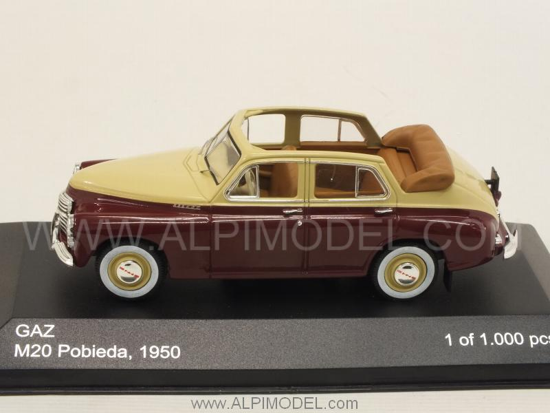 GAZ M20 Pobieda Cabriolet 1950  (Beige/Brown) - whitebox