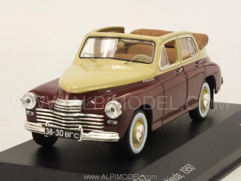 GAZ M20 Pobieda Cabriolet 1950  (Beige/Brown) by whitebox