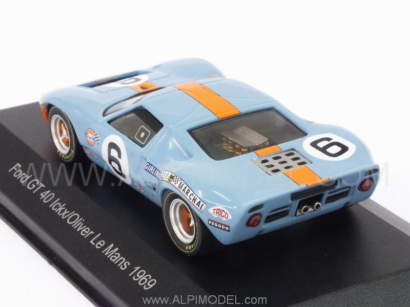whitebox Ford GT40 #6 Le Mans 1969 Ickx - Olivier (1/43 scale model)