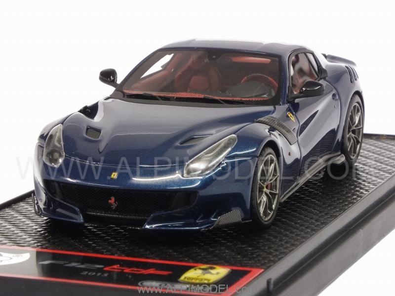 Bbr Ferrari F12 Tdf 2016 Blu Abu Dhabi 1 43 Scale Model