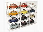 Display case for 12x Fiat 500 1/43 models (models not included/modelli non inclusi) by BRUMM