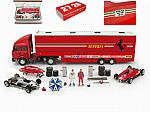 Ferrari Race Transporter Complete Set Plus 1982 Fiat Iveco Truck+ 2xFerrari 126C2  + accessories by BRU