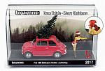 Fiat 500F 1965 Babbazza Natale AUTOSTOP (brown hair/castana)  Christmas Special Edition by BRUMM