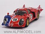 Alfa Romeo 33.2 LM #15 Le Mans Test 1969 Pilette - Slotemaker by BST