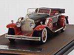 Rolls Royce Phantom II Brewster Newmarket Permanent Sport Sedan Cabriolet open 1932 (Black/Red) by GLM