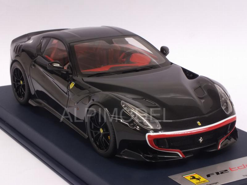 Ferrari F12 TDF (Nero DS) with display case by LSM