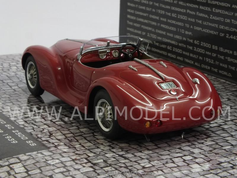 minichamps Alfa Romeo 6C 2500 SS Corsa Spider 1939 (Red) (resin) (1/43 scale model)
