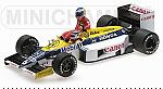 Williams FW11 Honda GP Germany 1986 Nelson Piquet (with Keke Rosberg riding on car) by MINICHAMPS