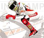 Valentino Rossi Figurine Riding MotoGP Valencia 2005 by MINICHAMPS