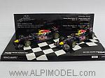 Red Bull RB7 2-car set - Constructor World Champion 2011 Sebastian Vettel - Mark Webber by MINICHAMPS