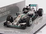 Mercedes W06 Hybrid GP Malaysia 2015 Nico Rosberg (HQ resin) by MINICHAMPS
