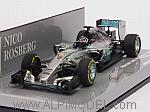 Mercedes AMG F1 W06 Hybrid Winner GP Monaco 2015 Nico Rosberg  (HQ Resin) by MINICHAMPS
