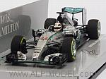 Mercedes W06 AMG F1 Hybrid Winner GP Belgium 2015 World Champion Lewis Hamilton (HQ Resin) by MINICHAMPS