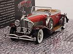 Duesenberg Model J Torpedo Convertible Coupe 1929 (Red) Blackhawk Museum Collection by MINICHAMPS