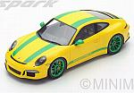 Porsche 991R 2016 (Yellow/Green) by SPARK MODEL